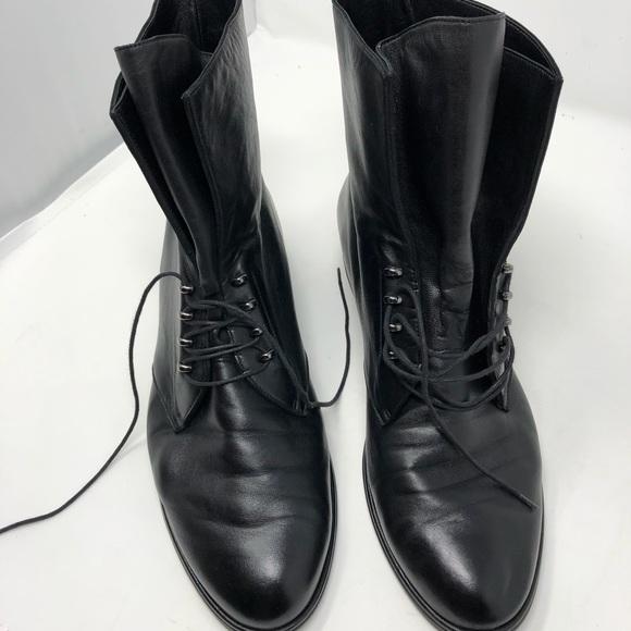 Stuart Weitzman Nappa Leather Lace Up